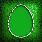 Kształt Wielkanocny jajko na zieleni deseniował tło Obraz Stock