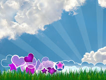 kształta błękitny jaskrawy różny ciekawy niebo ilustracja wektor