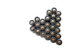 Kształta serce od solankowych baterii szarość barwi royalty ilustracja