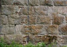 Kształtna ściana Obraz Royalty Free