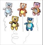 Kształtny balonu niedźwiedź Fotografia Stock