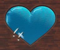 Kształtny basenu serce royalty ilustracja