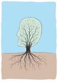 kształtny głowy drzewo Obrazy Royalty Free
