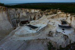 Kształtować teren górnika Zdjęcie Royalty Free
