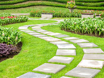 Kształtować teren w ogródzie Zdjęcie Stock