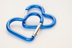 kształtujący błękitny serce fotografia stock
