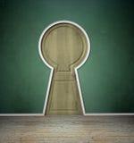 kształtujący drzwiowy wewnętrzny keyholw ilustracji