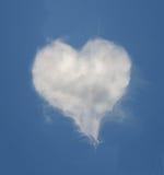 kształtujący obłoczny serce Fotografia Stock