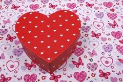 kształtujący prezenta pudełkowaty serce Obrazy Royalty Free