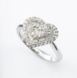 kształtujący serce pierścionek Obrazy Royalty Free