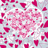kształtujący tła serce ilustracja wektor