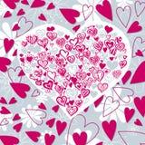 kształtujący tła serce Obraz Royalty Free