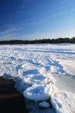 kształtuje teren denną zima Obraz Stock