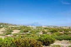 Kształtuje teren i dymi dziura, sposób Covao dos Conchos, Serra d zdjęcie royalty free