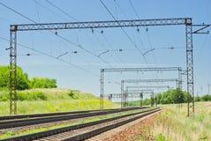 kształtuje teren linię kolejową Obrazy Stock