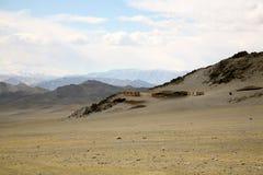 kształtuje teren Mongolia obrazy royalty free