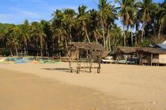Kształtuje teren plażę Nacpan Wyspa Palawan Obraz Royalty Free