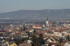 Kształtuje teren Węgierskiego miasto Esztergom Fotografia Stock