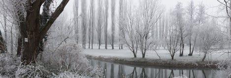kształtuje teren zima zdjęcie stock