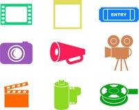 kształty filmów ilustracja wektor