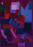 Kształtów kolory abstrakcjonistyczni Zdjęcia Royalty Free