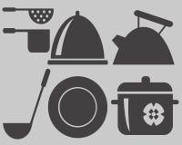 kształtów kulinarni naczynia Fotografia Stock