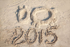 Kształt kózka - symbol 2015 rok Zdjęcia Stock