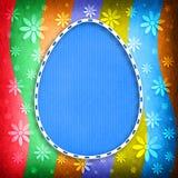 Kształt Wielkanocny jajko na barwionym tle Zdjęcia Stock