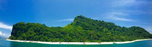 But kształtna wyspa Fotografia Royalty Free