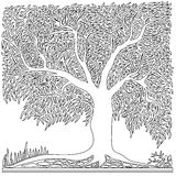 kształtuje kwadratowego drzewa Ilustracja Wektor