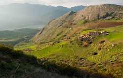 kształtuje teren Sicily Fotografia Stock