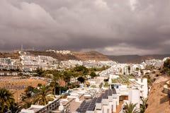 Kształtuje teren w Tropikalnych Powulkanicznych wyspach kanaryjska Hiszpania Zdjęcie Royalty Free