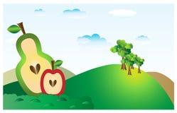 Kształtuje teren z owoc 2 Obrazy Stock