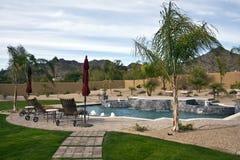 kształtujący wyjątkowo Arizona basen Zdjęcia Stock