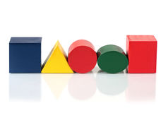 kształty bloków Zdjęcie Stock