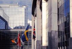 które budynku Brukseli parlament eu. Fotografia Royalty Free