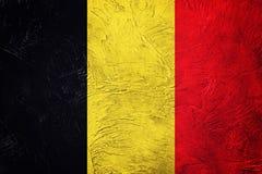 które grunge flagę Belg flaga z grunge teksturą Zdjęcia Stock