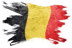 które grunge flagę Belg flaga z grunge teksturą Szczotkarski str Zdjęcia Stock