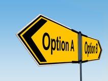 Który opcja? Zdjęcie Stock