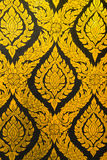 Texture art thai style on the wall Stock Photography