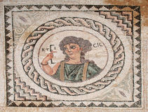 Kticic. Mosaic portraying Kticic holding a tool for measurements Royalty Free Stock Photo
