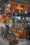 KTM booth at bike trade show Stock Photos