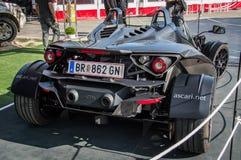 KTM X-BOW dans le circuit De Barcelone, Catalogne, Espagne Photo stock