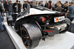 KTM X-BOW ROC. Sports car - roadster, allowed for public road - KTM X-BOW ROC at the exhibition of motorcycles Stock Image