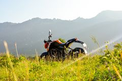 KTM Duke India. An amazing shoot on the hills of tamilnadu state with my new ktm Duke 200 Stock Image