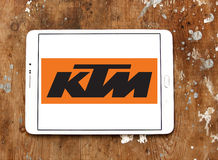 Ktm motorcycle logo Stock Photos