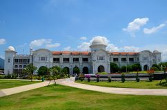 KTM railways train station Ipoh Perak Malaysia. Ipoh, Malaysia - June 3, 2017: The historic British era colonial railway station now operated by Keretapi Tanah Stock Photos