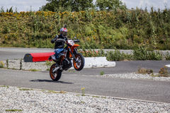 KTM 690 Wheelie Stock Image
