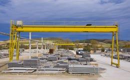 kętnara dźwigowy kolor żółty Zdjęcie Royalty Free