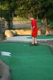 ktoś mini golfa, obrazy stock